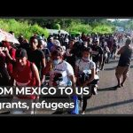 Thousands of migrants, refugees set off from Mexico to US